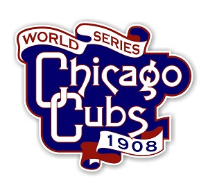 Chicago Cubs Vintage World Series 1908  Die Cut Decal
