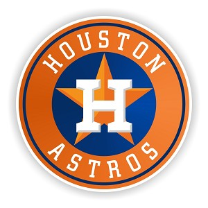 Houston Astros Round Die Cut Decal