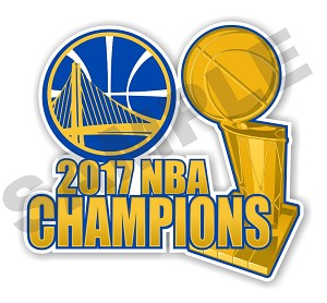 Golden State Warriors  2017 NBA Champions Die Cut Decal