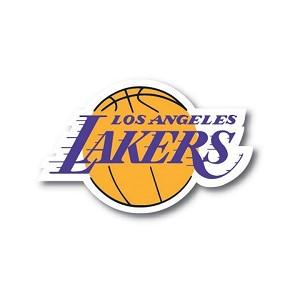 LA Lakers Los Angeles  Die Cut Decal
