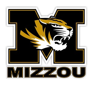 "Missouri Tigers "" Mizzou "" Die Cut Decal"