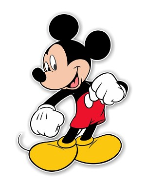 "Mickey Mouse ""Proud""  Die Cut Decal"