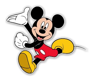 "Mickey Mouse ""Running""  Die Cut Decal"