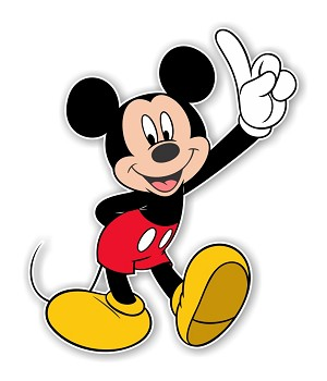 "Mickey Mouse ""Raising Hand""  Die Cut Decal"