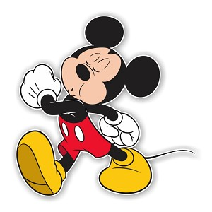 "Mickey Mouse ""Whistling""  Die Cut Decal"