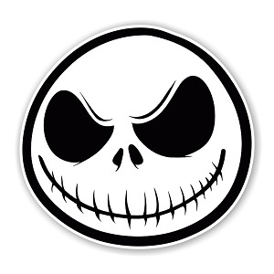 Jack Skellington Face Die Cut Decal