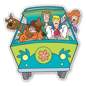 Scooby Doo Mystery Machine  Die Cut Decal