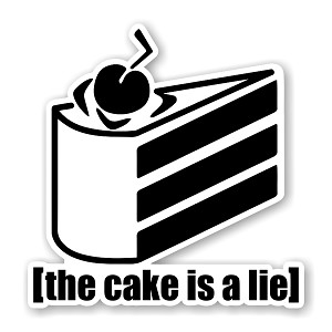 The Cake is A Lie Portal Precision Cut Decal