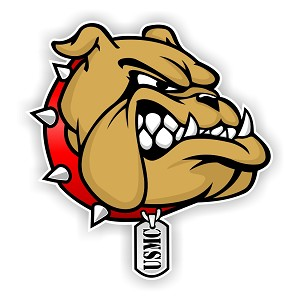 USMC Bulldog Marines Die Cut Decal