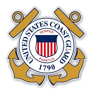 United States States Coast Guard Die Cut Decal