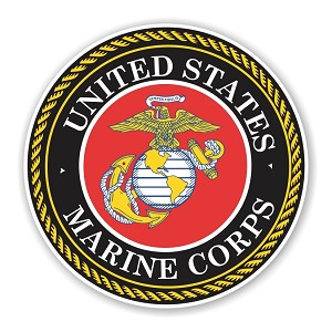 United States Marine Corps Round Die Cut Decal