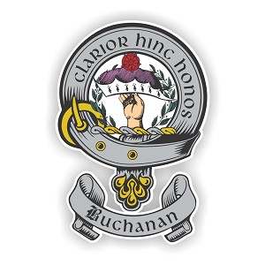 Clan Buchanan Scottish Family Name Decal