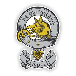 Clan Campbell Scottish Family Name Decal