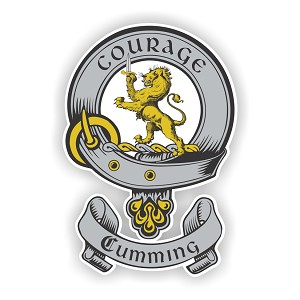 Clan Cumming Scottish Family Name Decal