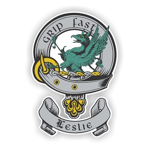 Clan Leslie Scottish Family Name Decal