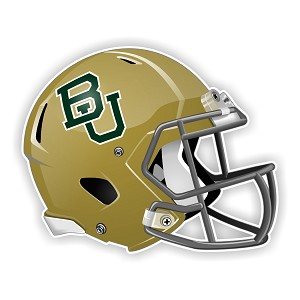 Baylor University Bears Football Helmet (Golden) Die Cut Decal