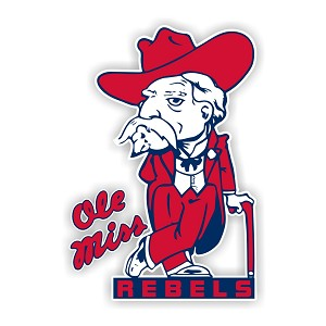 "Mississippi Rebels "" Ole Miss "" Die Cut Decal"
