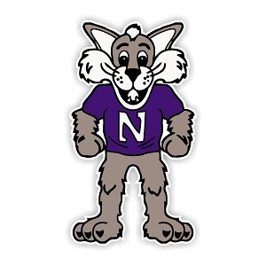 "Northwestern Wildcats ""Mascot"" Die Cut Decal"